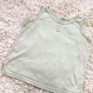 Vintage Tan Basic Editions Tank Top